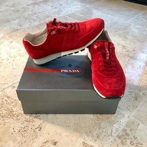 Like New! Men's Prada Red Runners $695!!!